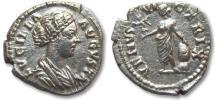 Ancient Coins - AR denarius Lucilla, Rome 164 A.D. -- VENVS VICTRIX --