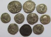 Ancient Coins - Lot of 2x antoninianii and 8x AR denarii of the Roman Empire -- various emperors--
