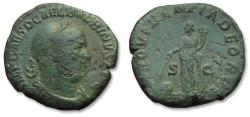 Ancient Coins - AE 30mm sestertius emperor Balbinus - rare cointype of a shortlived emperor - Rome mint, 238 A.D. - PROVIDENTIA DEORVM -
