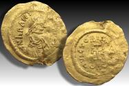 AV gold tremissis Heraclius, Constantinople mint 613-641 A.D. - officina letter S -