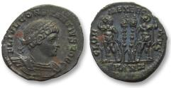 Ancient Coins - AE follis Constantius II as Caesar, Antioch 330-335 A.D. -- near mint state --