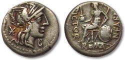 Ancient Coins - AR Denarius N. Fabius Pictor. Rome, 126 B.C.