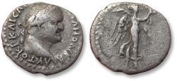 Ancient Coins - Cappadoccia. AR hemidrachm, Vespasian / Vespasianus. Caesaraea-Eusebia 69-79 A.D. - Nike walking right -