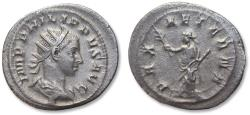 Ancient Coins - AR antoninianus, Philip II as co-emperor, son of Philip I - Rome 247-249 A.D. - PAX AETERNA -