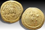 Ancient Coins - Gold solidus Justin II, Constantinople mint - CONOB in exergue, officina Γ -