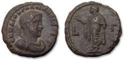 Ancient Coins - 22mm BI billon tetradrachm emperor Gallienus - high quality & scarce - Egypt, Alexandria mint dated RY 3 = 256-257 A.D. -