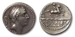 Ancient Coins - AR denarius L. Marcius Philippus, Rome 56 BC