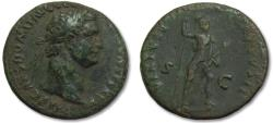 Ancient Coins - AE As Domitian / Domitianus, Rome 89-96 A.D. -- VIRTUS --