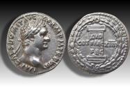 Ancient Coins - AR denarius, Domitian / Domitianus. Rome 88/89 A.D. - rare type commemorating the Saecular Games of 88