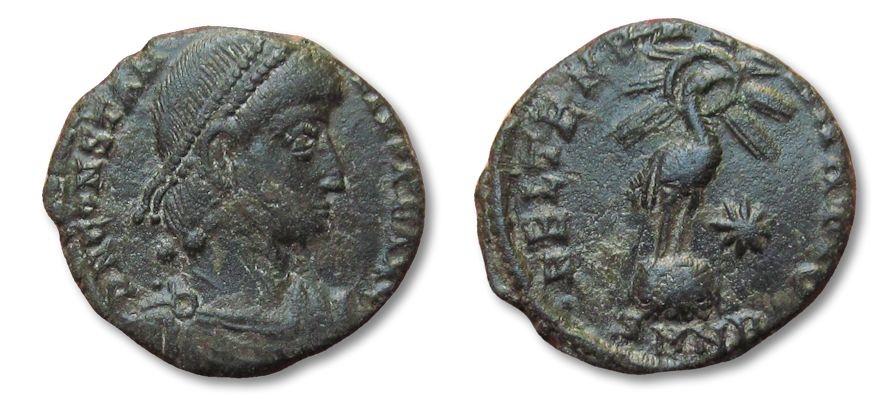 Ancient Coins - HS: AE17 follis Constantius II, Nicomedia 337-361 A.D.