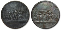 Ancient Coins - SILVER medal by J. Dassier, 1743, the ROMAN REPUBLIC series: the abduction of the Sabine women