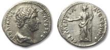 Ancient Coins - AR denarius Hadrian, Rome 132-134 A.D.