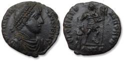 Ancient Coins - Æ Follis Valentinian I - Ex Seaby London 1987, with collector's ticket, Antioch mint - GLORIA ROMANORVM, mintmark ANTΓ