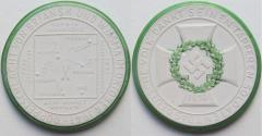 World Coins - Nazi Germany WW2 white & green enameled porcelain medal 1941: on the victory in the battles of Bryansk & Vyazma near Moscow - rare -