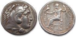 "Ancient Coins - AR tetradrachm Alexander III ""The Great"", Pella mint 315-310 B.C. - struck under Kassander -"