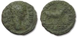 Ancient Coins - AE 16 (assarion) Septimius Severus, Moesia Inferior - Nikopolis ad Istrum 193-211 A.D. -- bull --