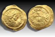AV gold tremissis Maurice Tiberius, Constantinople mint 582-602 A.D.