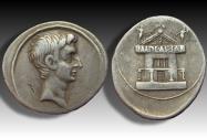Ancient Coins - AR denarius Octavian / Octavianus Augustus. Uncertain Italian mint 29-27 B.C.