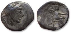 Ancient Coins - AR quinarius M. Porcius Cato, Rome 89 B.C.