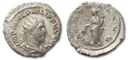 "Ancient Coins - HS: AR antoninianus Philip I ""The Arab"", Rome 244-247"