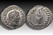 Ancient Coins - AR denarius Caracalla, Rome mint 213 A.D. - superb portrait with considerable luster in fields -