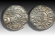 World Coins - Short cross type AR penny Cnut the Great - WINCHESTER mint 1029-1035 A.D. - moneyer GODPINE