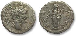Ancient Coins - AR denarius Septimus Severus, Laodicea 194 A.D. - scarce variant with Fotuna holding 2 cornucopiae -