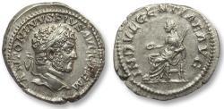 Ancient Coins - AR denarius Caracalla, Rome 215 A.D. -- INDVLGENTIAE AVG --