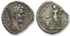 Ancient Coins - AR denarius Septimus / Septimius Severus, Rome 194-195 A.D. -- GENIVS P F --