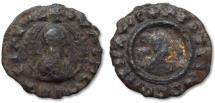Ancient Coins - AE 16 Kingdom of Axum (Ethiopia), Ouzebas, circa 380 A.D.