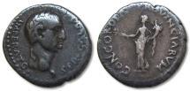 Ancient Coins - AR denarius Galba, mint in Gaul or Spain (Narbo/Tarraco?) 68 A.D.