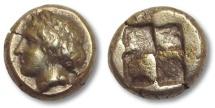 Ancient Coins - EL Hekte, Ionia, Phokaia 478-387 B.C. - head of Pan left -