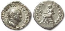 Ancient Coins - AR denarius Vespasianus / Vespasian, Rome 75 A.D.
