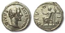 Ancient Coins - AR denarius DIVUS Antoninus Pius, Rome 162 A.D. struck under Marcus Aurelius & Lucius Verus