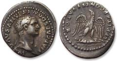 Ancient Coins - AR denarius Domitian / Domitianus, Rome 81-83 A.D. -- scarcer type with great toning --