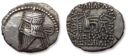 Ancient Coins - Kings of Parthia, AR drachm, Vologases III. Ekbatana mint, 105-147 A.D.