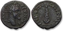 Ancient Coins - AE 17 (assarion) Septimius Severus, - Nikopolis ad Istrum 193-211 A.D. - club of Herakles -