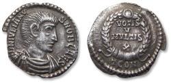 Ancient Coins - AR Siliqua, Julian II / Julianus II as CAESAR. Constantina (=Arles) mint 360-361 A.D. - TCON (3rd officina), officially recorded detector find -