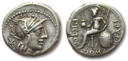Ancient Coins - AR denarius, N. Fabius Pictor, Rome 126 B.C.