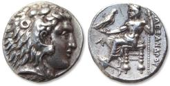 Ancient Coins - AR tetradrachm Ptolemy I Soter as Satrap. Arados mint 323-305 B.C. - struck in the name of Alexander III -
