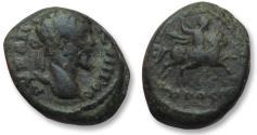 Ancient Coins - AE 17 (assarion) Septimius Severus, Moesia Inferior - Nikopolis ad Istrum 193-211 A.D -emperor on horseback--