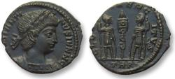 Ancient Coins - AE follis Constantinus II as Caesar, Trier mint 336-337 A.D. -- mint state, beauty --