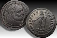 Ancient Coins - AE follis Diocletianus, Nicomedia mint 303-304 A.D. - near mint state, Ex Gorny &  Kaiser Frankfurt 1997 with collector ticket -