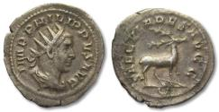 Ancient Coins - AR antoninianus Philip I 'the Arab', Rome mint 248 A.D. -- 1000 years Rome --