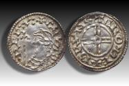 World Coins - Short cross type AR penny Cnut the Great - THETFORD mint 1029-1035 A.D. - moneyer BRVNSTΛN