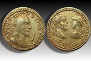 Ancient Coins - EL stater Sauromates II with Septimius Severus and Caracalla, circa 198-199 A.D. - dated 495 of the Bosporan Era -