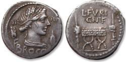Ancient Coins - AR Denarius L. Furius Cn. f. Brocchus. Rome 63 B.C.