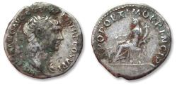 Ancient Coins - AR denarius Trajan / Trajanus, Rome mint 103-107 A.D. - Fortuna seated left -