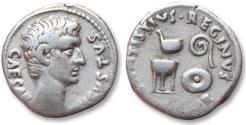 Ancient Coins - AR denarius, Octavian as Augustus, moneyer C. Antistius Reginus, Rome 13 B.C.