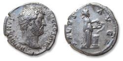 Ancient Coins - AR denarius Hadrian / Hadrianus , Rome mint 134-138 A.D. - SALVS AVG -